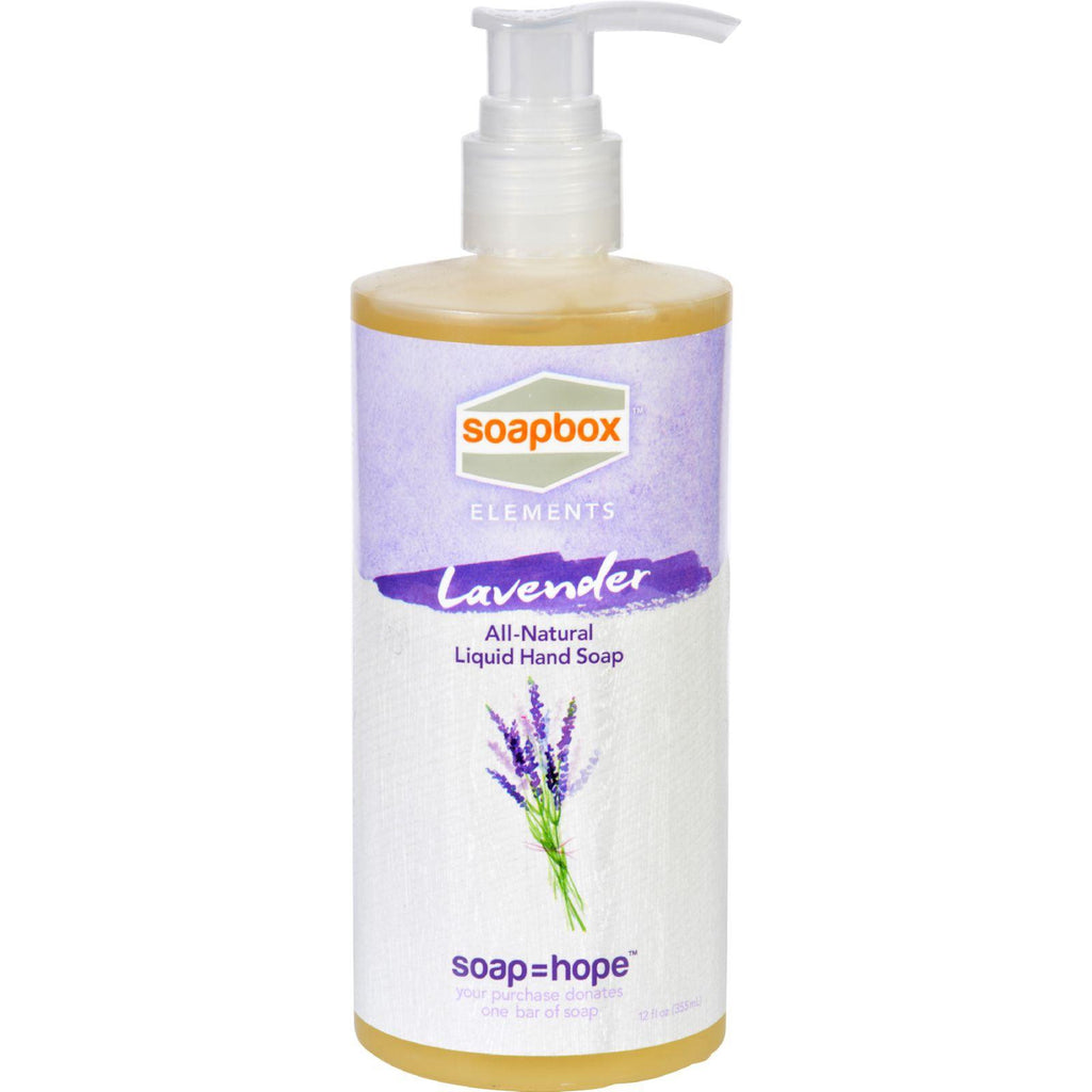 Soapbox Hand Soap - Liquid - Elements - Lavender - 12 Oz-Soapbox Elements-pantryperks