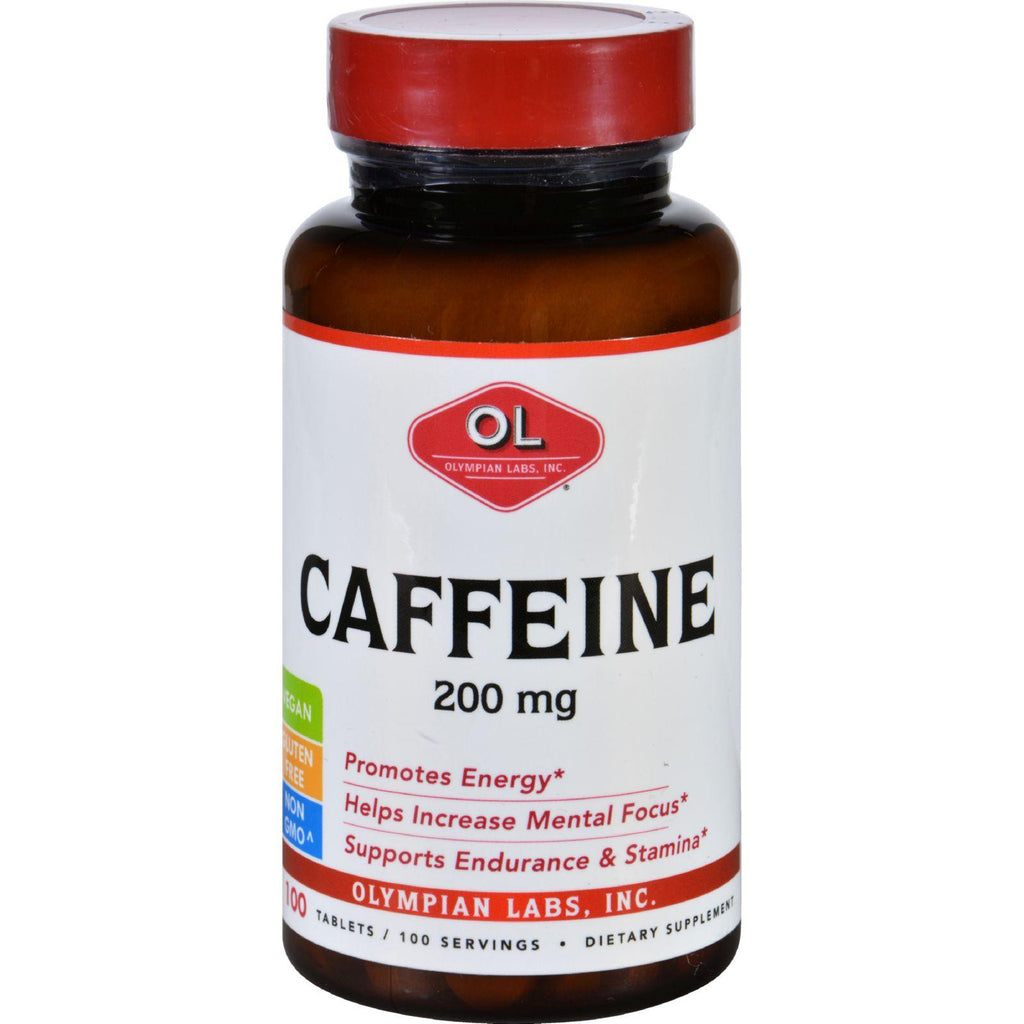 Olympian Labs Caffeine - 200 Mg - 100 Tablets-Olympian Labs-pantryperks