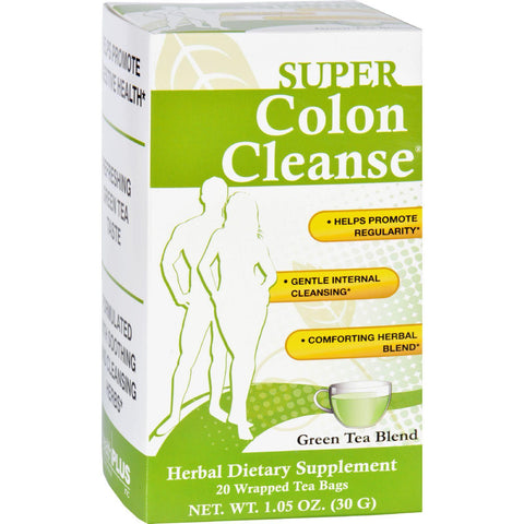 Health Plus Tea - Super Colon Cleanse - Green - 20 Bags-Health Plus-pantryperks