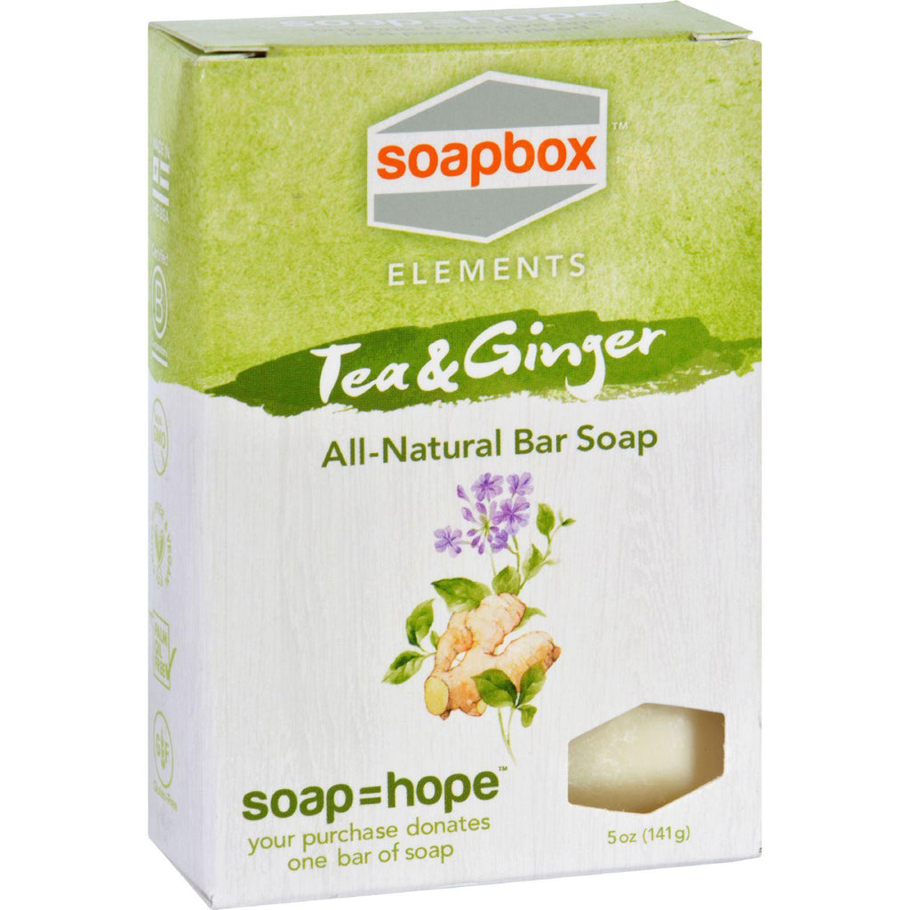 Soapbox Bar Soap - Elements - Tea And Ginger - 5 Oz-Soapbox Elements-pantryperks