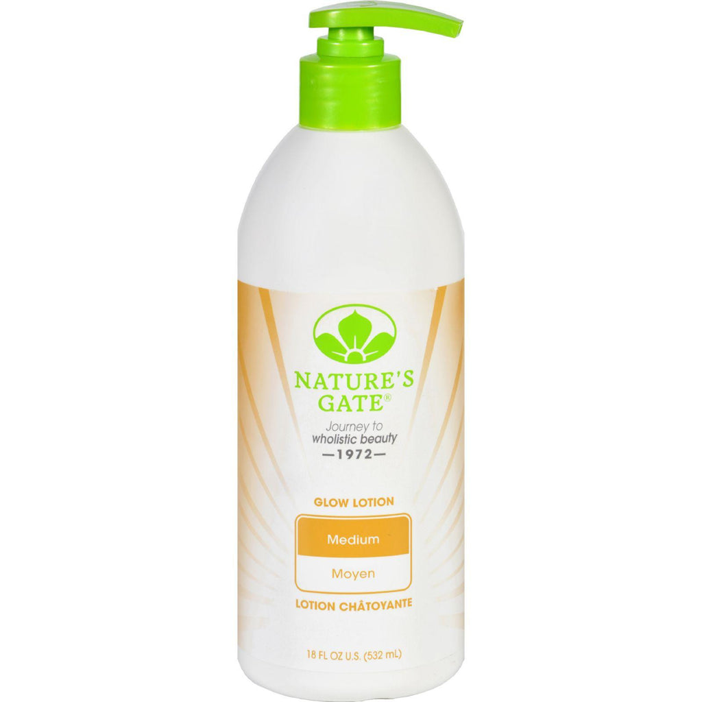 Natures Gate Body Lotion - Glow - Medium - 18 Oz-Nature's Gate-pantryperks