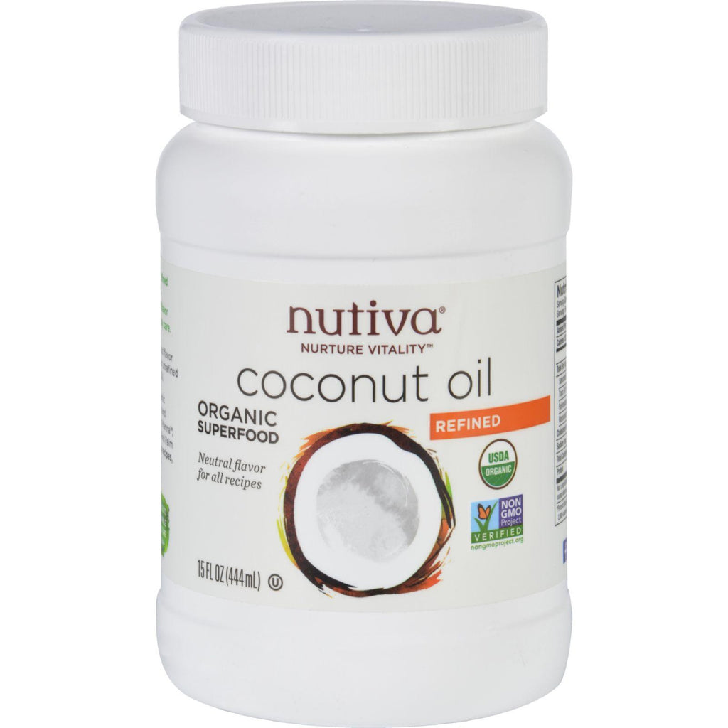 Nutiva Coconut Oil - Organic - Superfood - Refined - 15 Oz-Nutiva-pantryperks