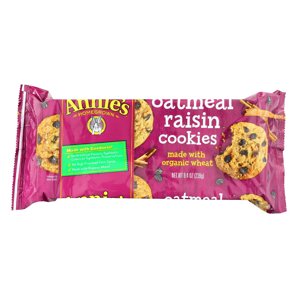 Annie's Homegrown Organic Cookies Oatmeal Raisin - Case Of 10 - 8.4 Oz.-Annie's Homegrown-pantryperks