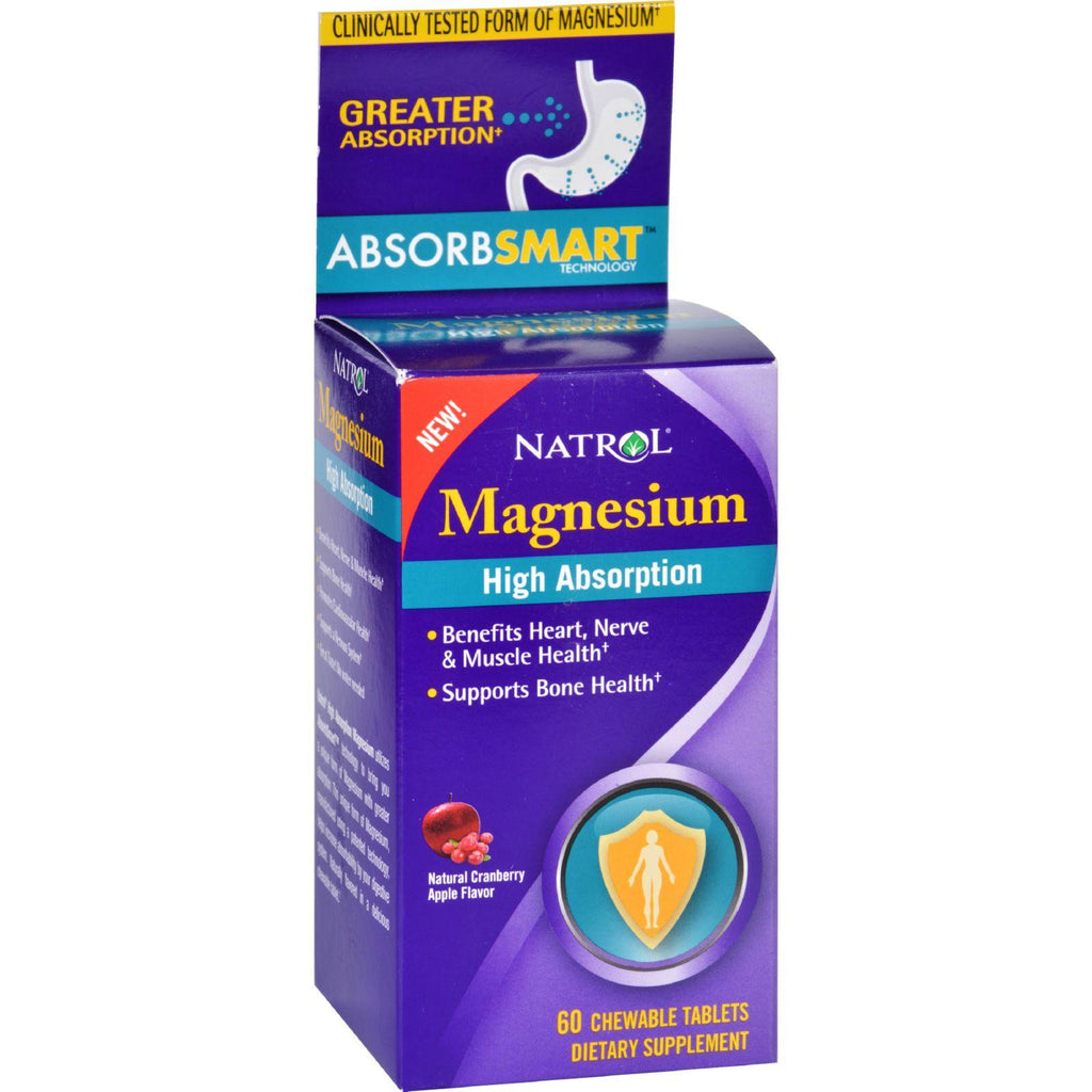 Natrol Magnesium - High Absorption - 60 Tablets-Natrol-pantryperks