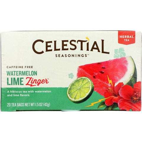 Celestial Seasonings Herbal Tea - Watermelon Lime Zinger - 20 Count-Celestial Seasonings-pantryperks