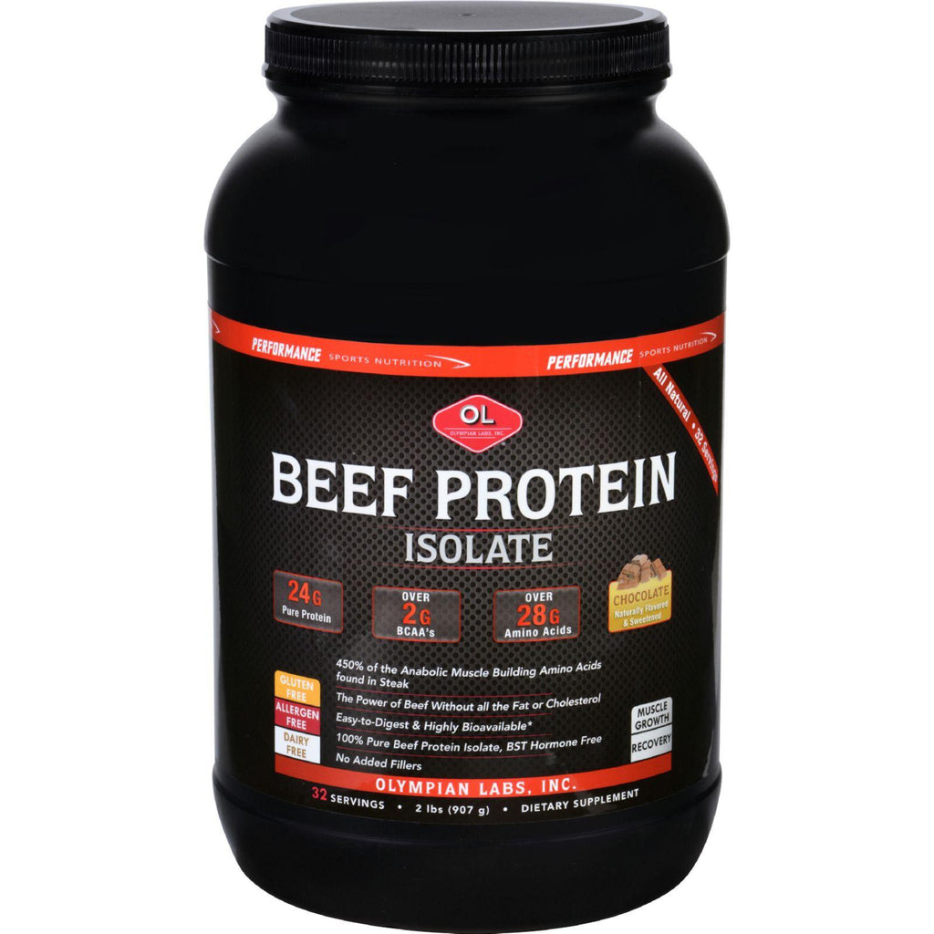 Olympian Labs Beef Protein Isolate - Chocolate - 2 Lb-Olympian Labs-pantryperks