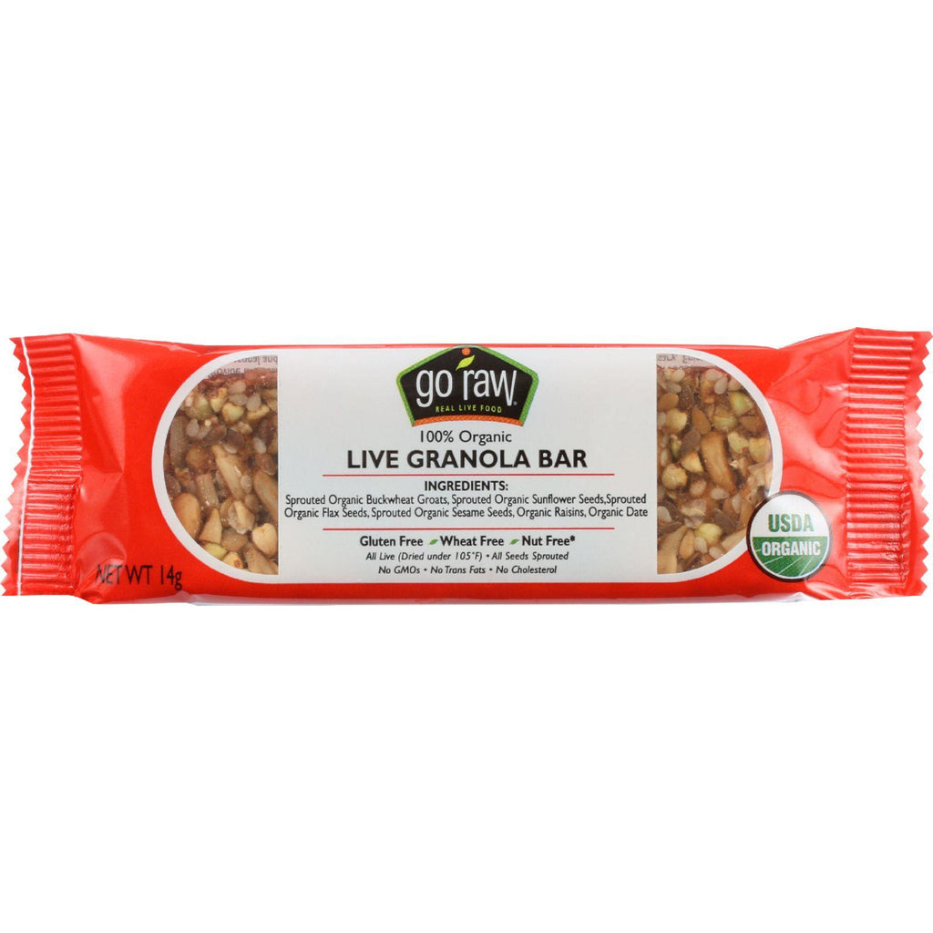 Go Raw Snack Bar - Organic - Sprouted - Raisin Crunch - .493 Oz - Case Of 10-Go Raw-pantryperks