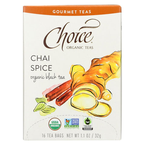 Choice Organic Teas Organic Black Tea Chai Spice - 16 Tea Bags-Choice Organic Teas-pantryperks