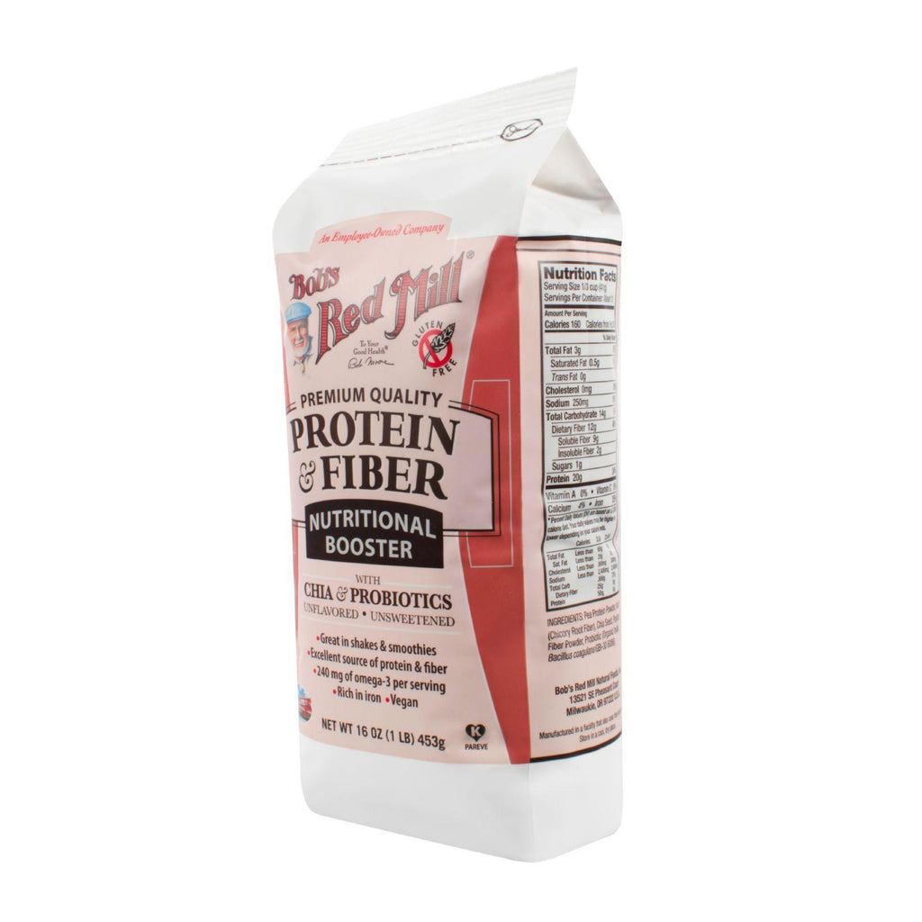 Bob's Red Mill Protein And Fiber Nutritional Booster - 16 Oz - Case Of 4-Bob's Red Mill-pantryperks