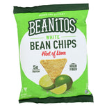 Beanitos Hint of Lime Bean Chips with Sea Salt - Plant Based Protein - Good Source Fiber - Gluten Free - Non-GMO - Vegan - Corn Free Tortilla Chip Snack - 1.2 Ounce-Beanitos-pantryperks