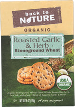 Back To Nature Organic Stoneground Wheat Crackers Roasted Garlic & Herb - 6 oz-Back To Nature-pantryperks