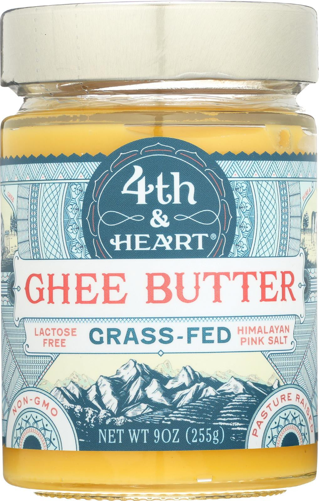 4th & Heart Grass-Fed Ghee Himlayan Pink Salt - 9 oz-4th And Heart-pantryperks