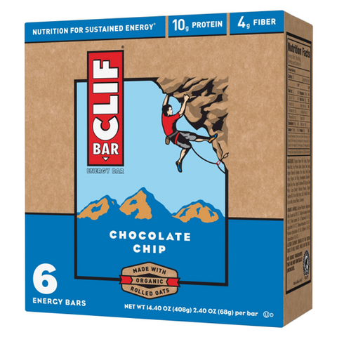 Clif Bar - Chocolate Chip / Crunchy Peanut Butter - Case Of 6 - 2.4 Oz-Clif Bar-pantryperks