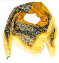 Yellow Fish Modal Scarf