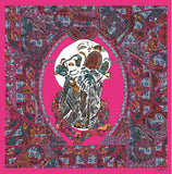 Death's Head Pink Silk Scarf