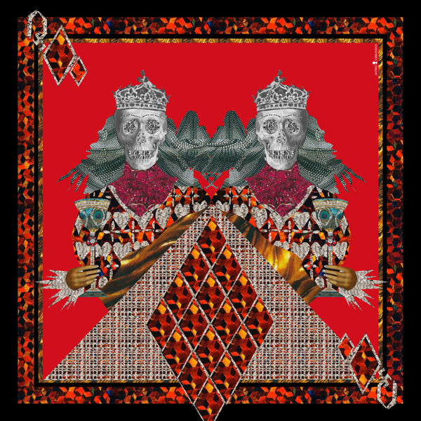 Twin King Calvaria Red Modal Scarf