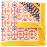 Ananas Yellow Pocket Square