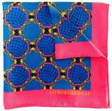 Forme Rose-Blue Pocket Square