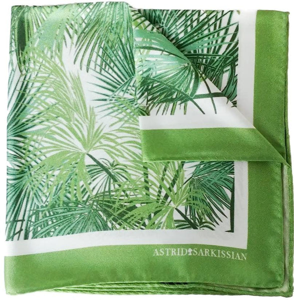 Palmier Green Pocket Square