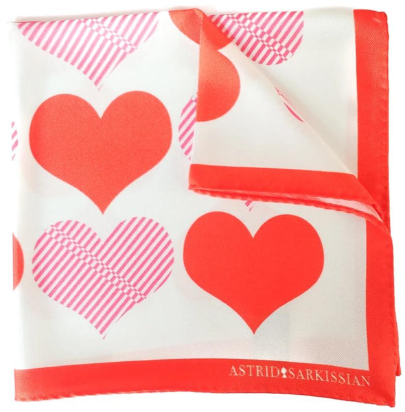 Heart Pocket Square