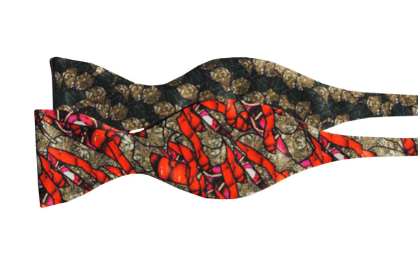 Marron Self Tie Bow Tie