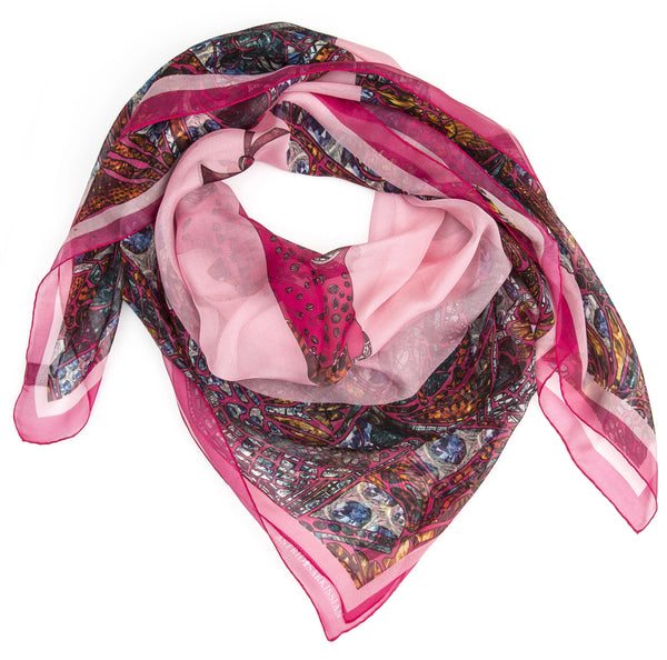 Pink Fish in the Dark Modal Scarf