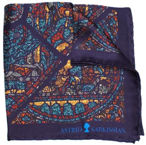 Mith Blue Pocket Square