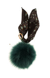 Crazy Bug Black Fox Fure Key Ring