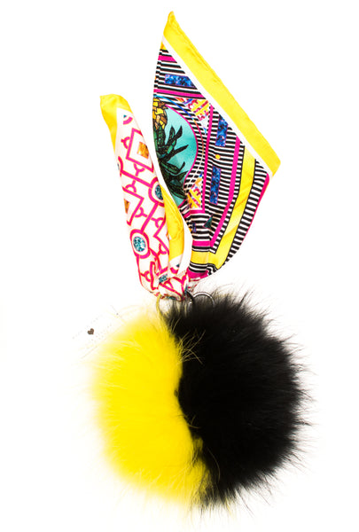 Ananas Fox Fure Key Ring