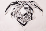 Moisson White Silk Scarf