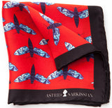 Mith Red Men's Pocket Square