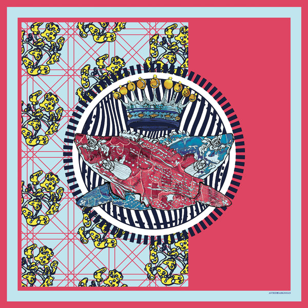 Poisson Silk Scarf