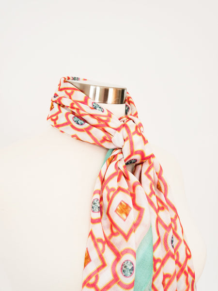 Moucharabieh Turquoise Modal Scarf