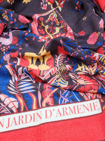 Jardin D'ARMENIE Wool Scarf Red