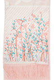 Biainili Pink Tulip Long Cashmere Backed Stole