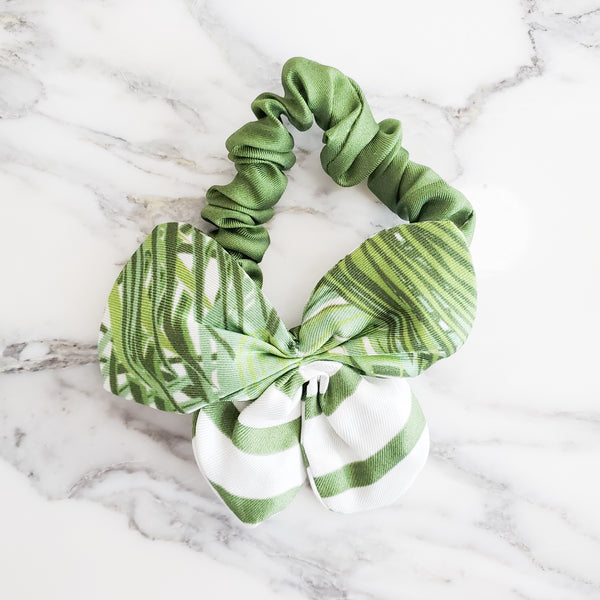 MININ PALMIER GREEN SCRUNCHIE
