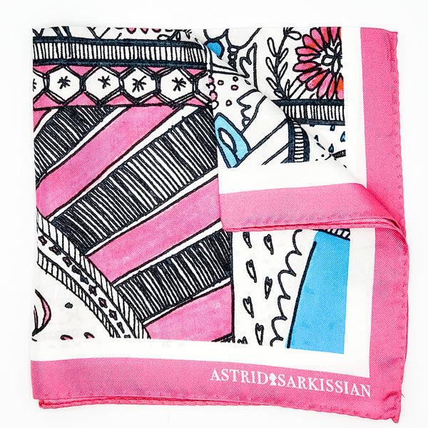 Manufacture Royale De Sèvres Pink Pocket Square