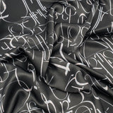 Aybuben Black Silk Satin Bandana