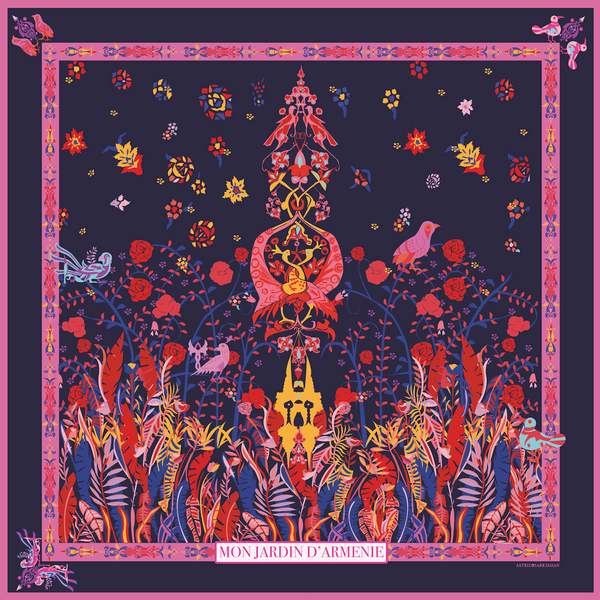 Jardin d'Armenie Pocket Square