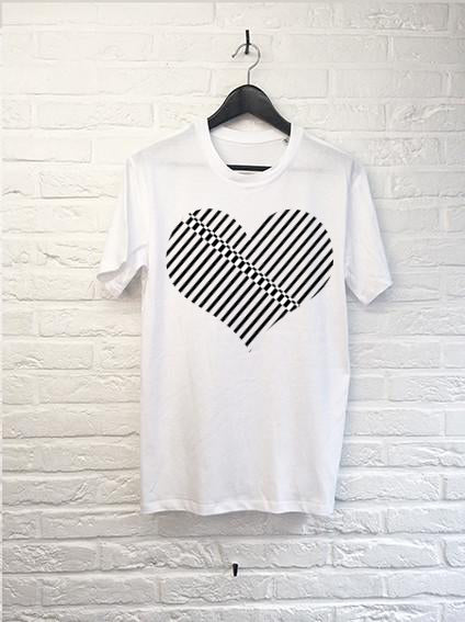 T-Shirt Coeur Black