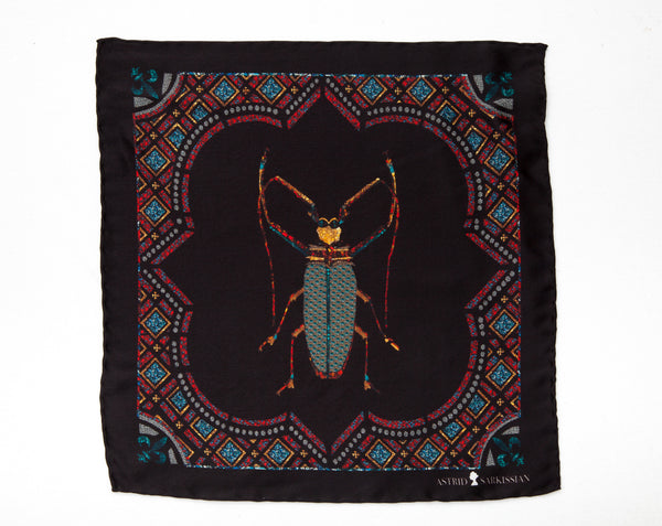 Vermin Black Men's Pocket Square