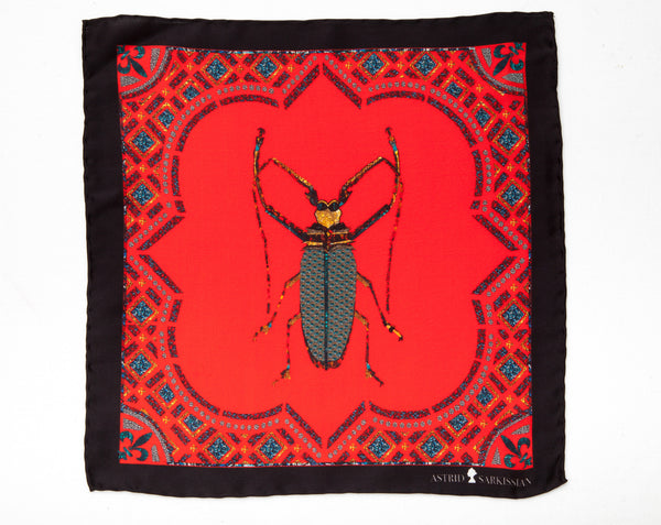 Vermin Red Pocket Square