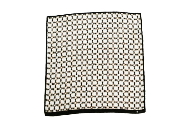 Bug White Men's Pocket Square