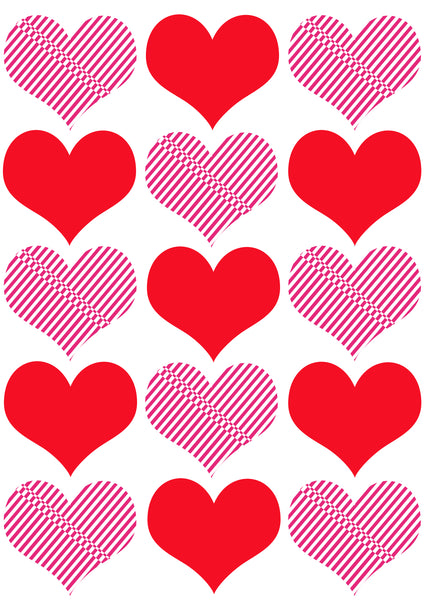 T-Shirt Coeur Red and Pink