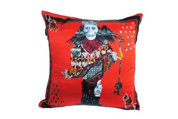Calvaria Red Silk Cushion