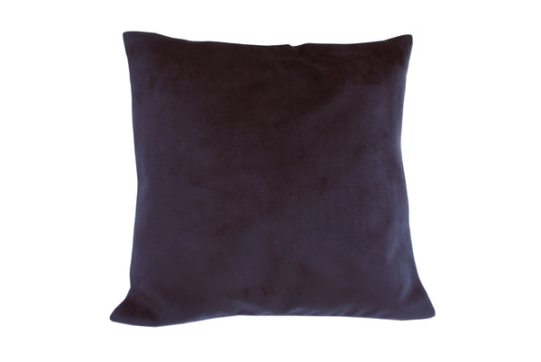 Crown Black Silk Cushion