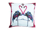 Flamingo Pink Silk Cushion