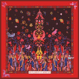Jardin D'ARMENIE Silk Scarf Red