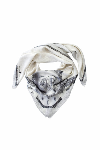 Queen Diagonal Silk Satin Scarf