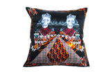 Twins Black Silk Cushion
